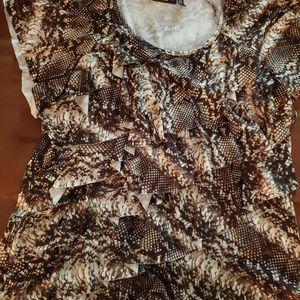 Knit top, plus size